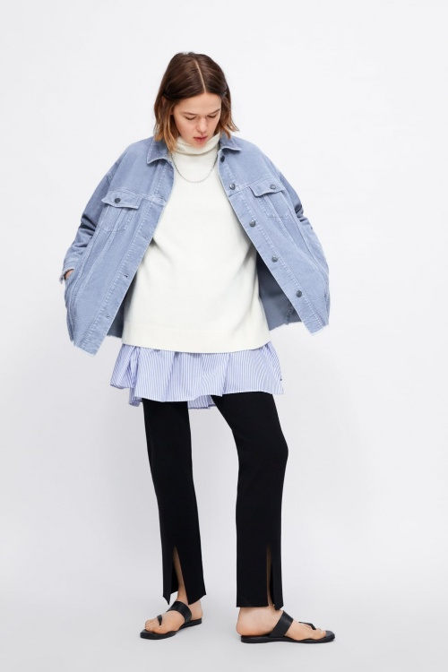 Zara - Veste en velours côtelé