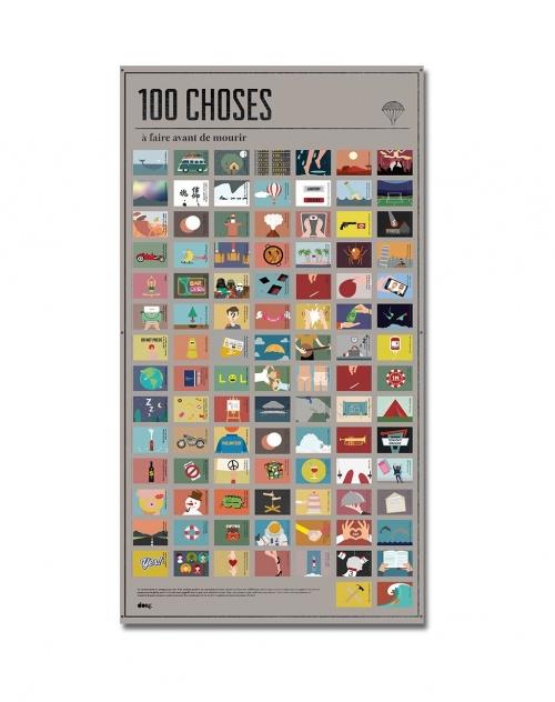 DOIY - Affiche 100 Choses à faire avant de mourir