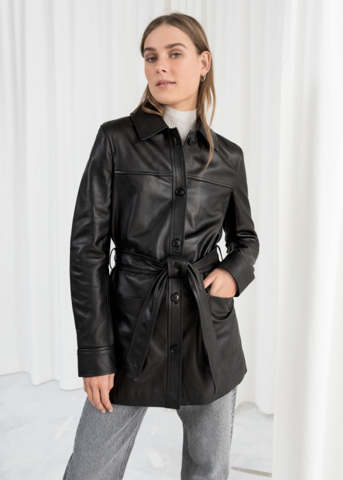 & Other Stories - Trench en cuir