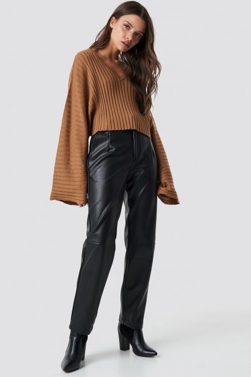 Na-Kd - Pantalon droit en similicuir