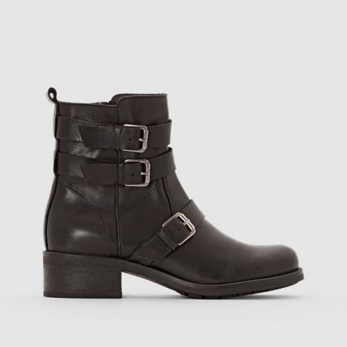 La Redoute- Boots motardes en cuir