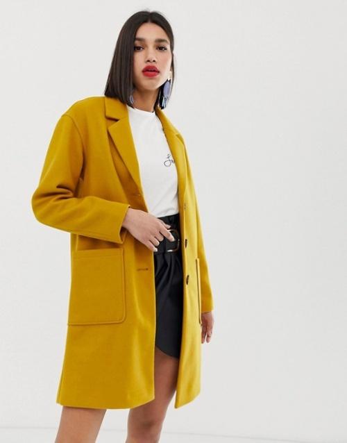 Warehouse - Manteau ajusté à poches oversize