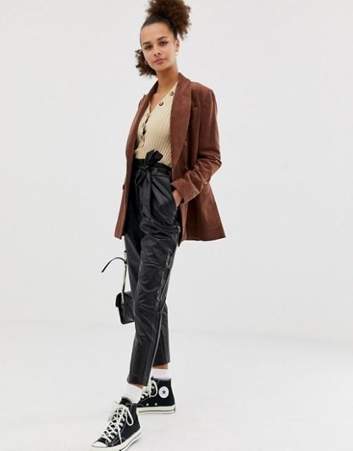 New Look - Pantalon en similicuir