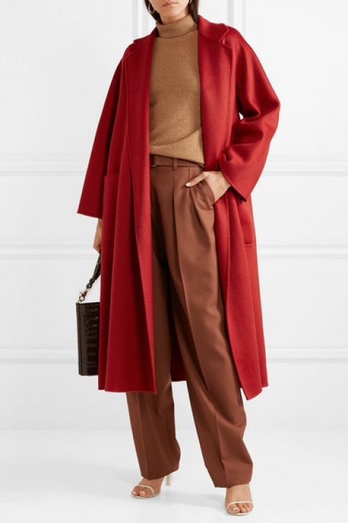Max Mara - Manteau en feutre de cachemire ceinture Labro