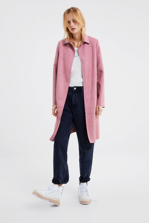 Zara - Manteau effait daim