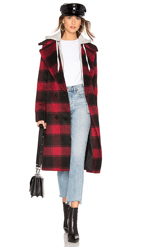 Kendall + Kylie - Manteau à carreaux