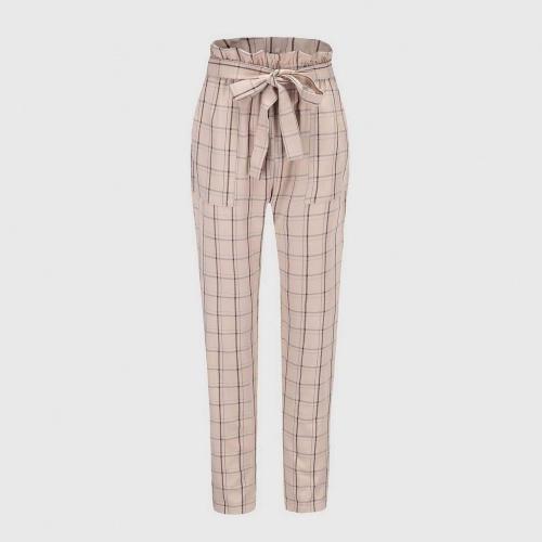 Les Maximalist- Pantalon taille haute à carreaux