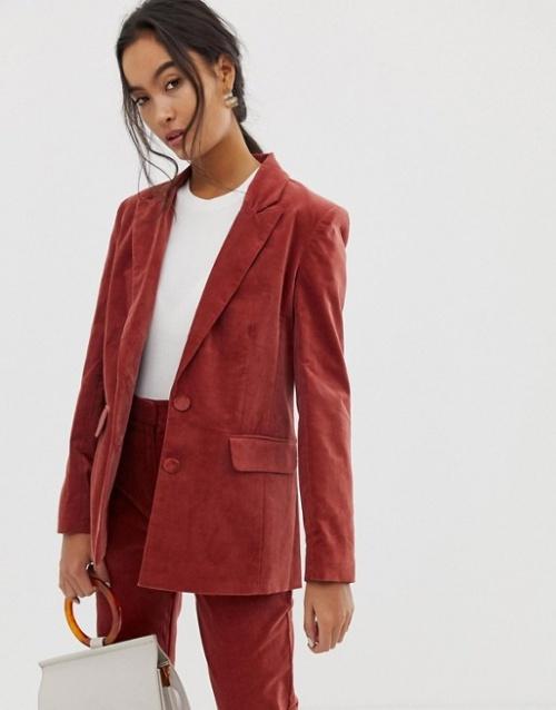 ASOS DESIGN - Blazer de costume en velours