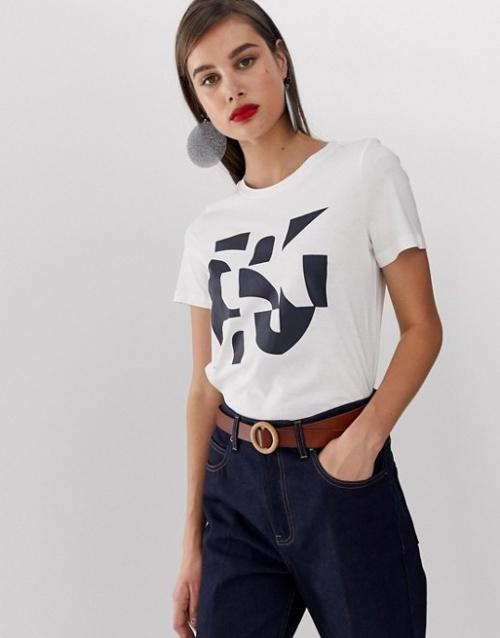 Vero Moda - T-shirt à motif géométrique