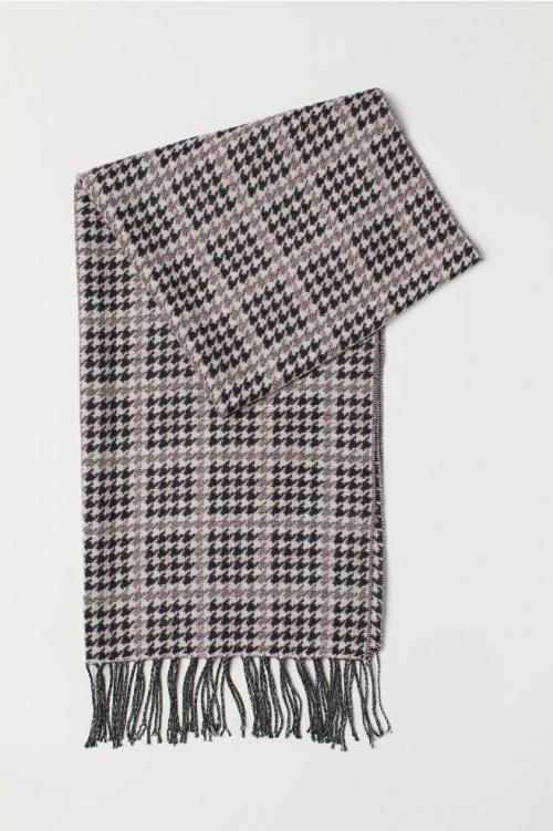 H&M- Écharpe en tissu jacquard