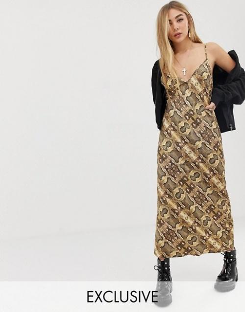 Reclaimed Vintage- Robe en satin