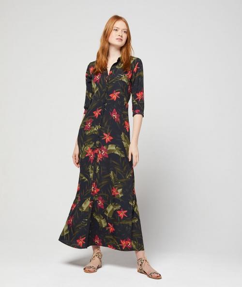 Etam- Robe longue imprimé floral