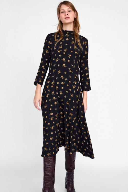 Zara- Robe col montant