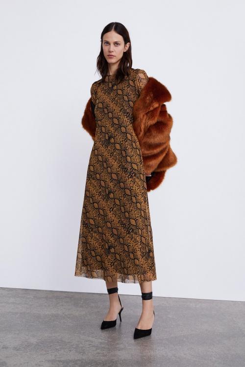 Zara- Robe imprimé animalier
