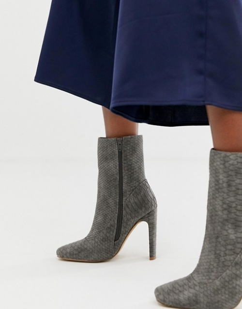 Missguided - Bottines à talon haut et bout carré