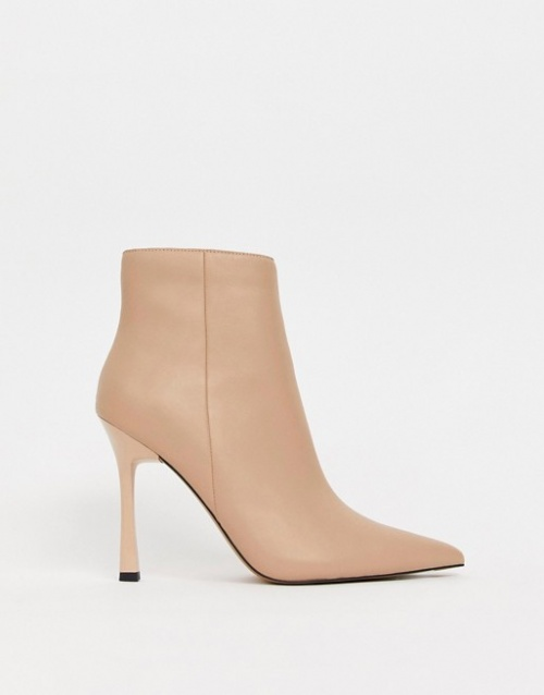 ASOS DESIGN - Evon - Bottines en cuir à talon
