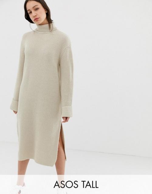 Asos- Robe longue fendue