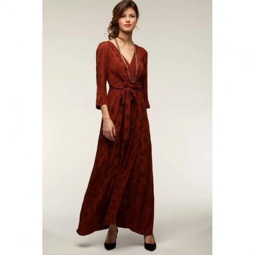 La Redoute- Robe longue motif feuilles