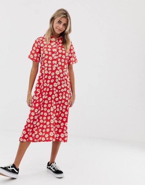 Wadnesday's girl- Robe imprimée marguerites