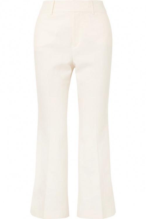 Frame - Pantalon évasé en lin mélangé