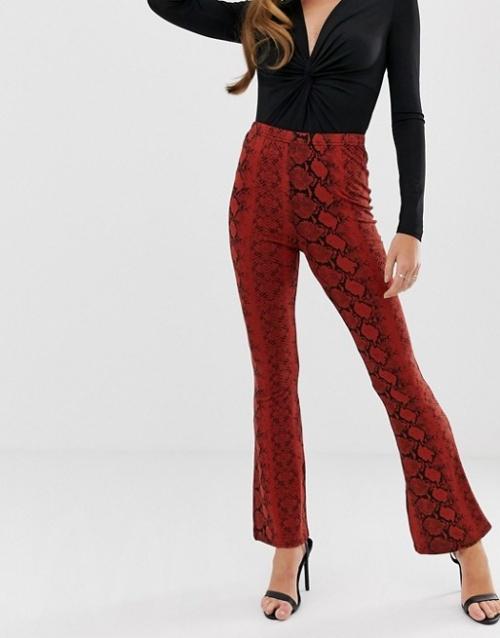 Boohoo - Pantalon évasé casual