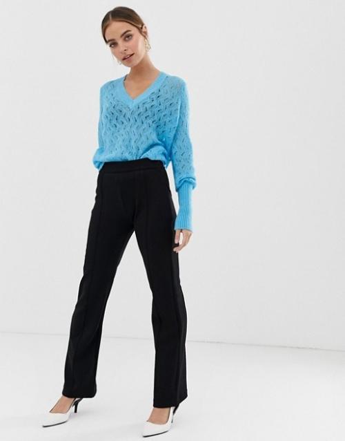 Y.A.S Petite - Pantalon évasé à coutures apparentes