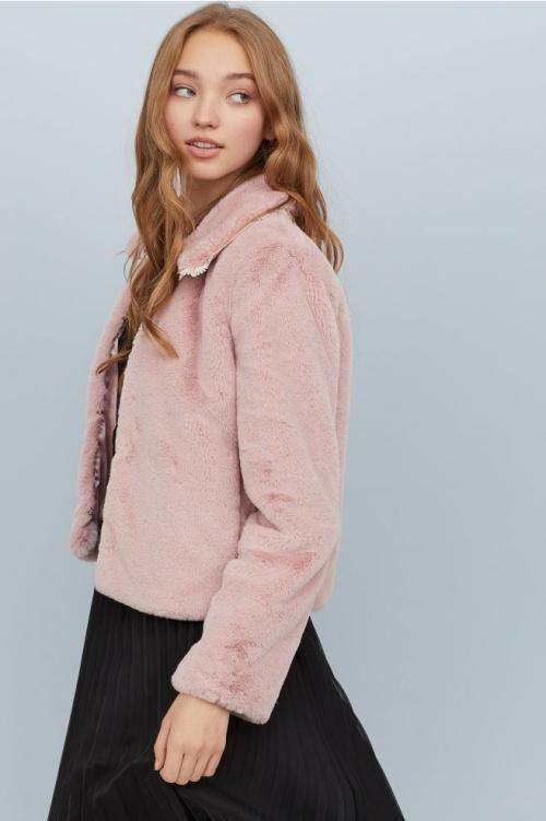 H&M- Veste rose poudrée
