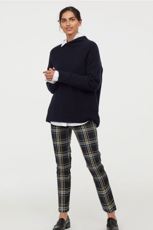 H&M- Pantalon cigarette