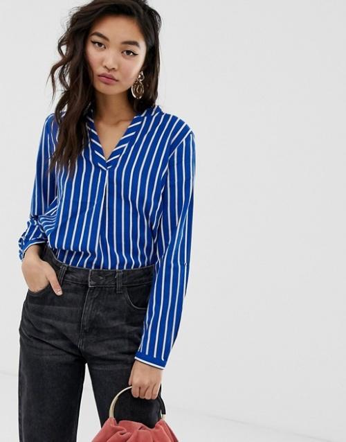 Esprit- Chemise rayée bleu et blanc