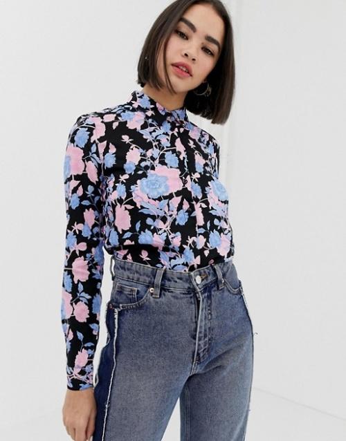 Monki- Chemise à fleurs