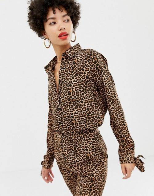 Na-KD- Chemise imprimée léopard