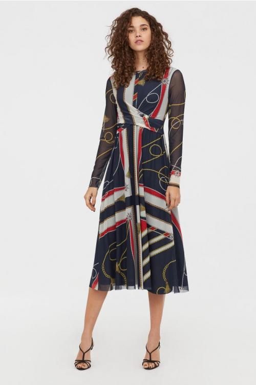 H&M- Robe drapée