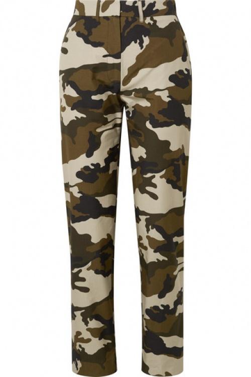 House of Holland - Pantalon droit en toile de coton à imprimé camouflage