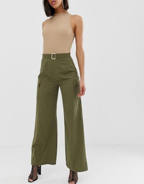 PrettyLittleThing - Pantalon cargo avec ceinture