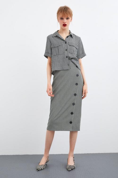 Zara - Jupe à carreaux