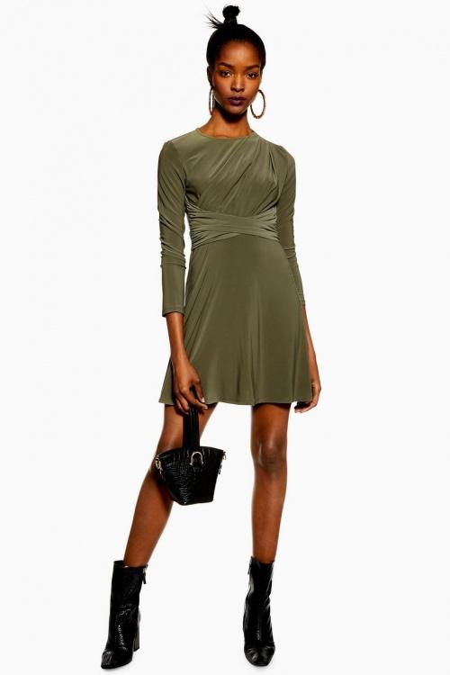 Topshop - Mini robe drapée avec ceinture