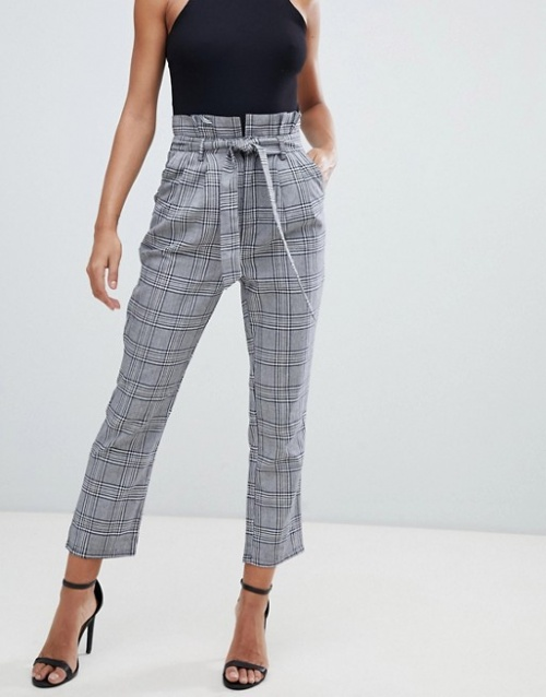 PrettyLittleThing - Pantalon taille haute