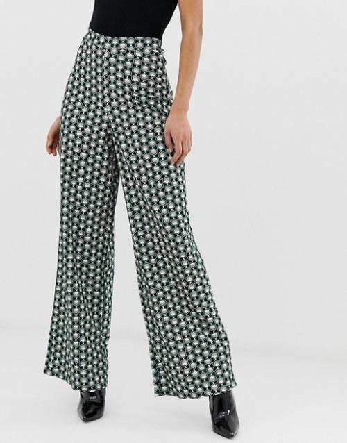 Missguided - Pantalon large à imprimé géométrique