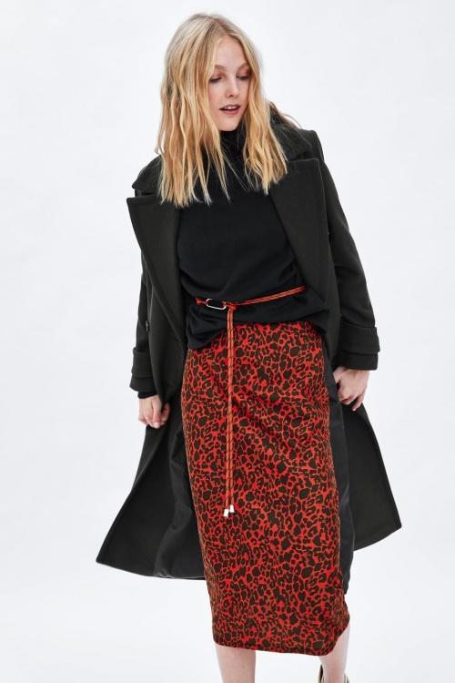 Zara - Jupe mi-longue