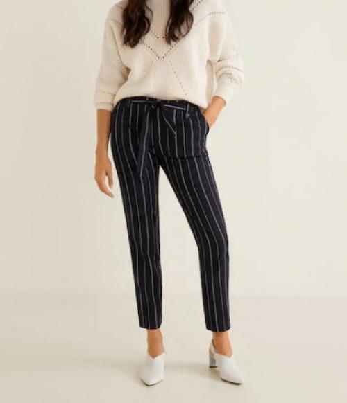 Mango - Pantalon ceinture nœud