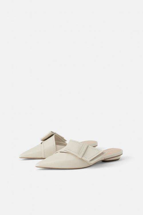 Zara - Mules en cuir