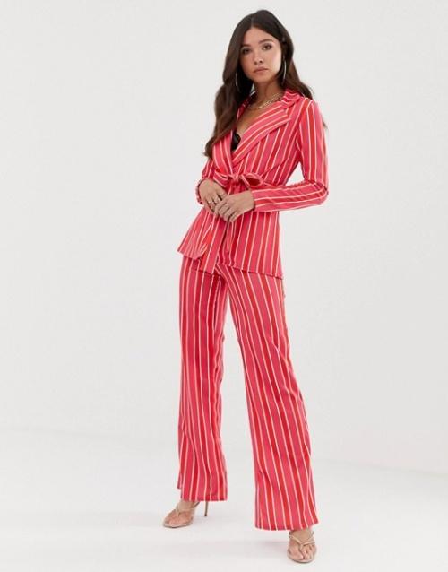 Missguided - Pantalon d'ensemble à rayures