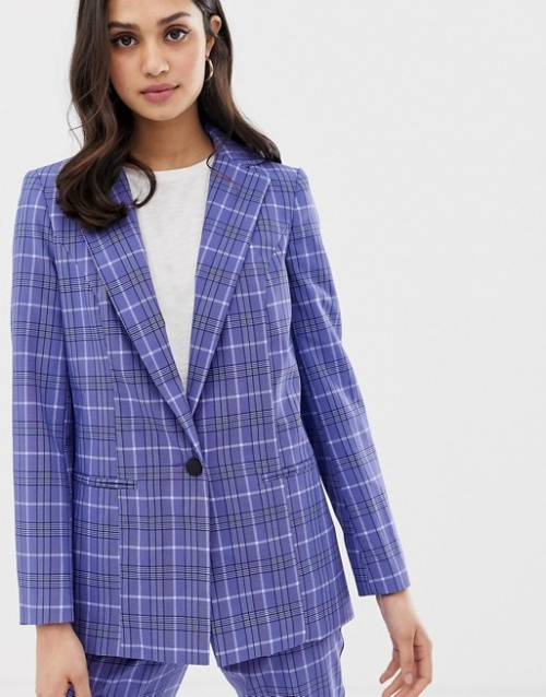 Miss Selfridge - Blazer à carreaux