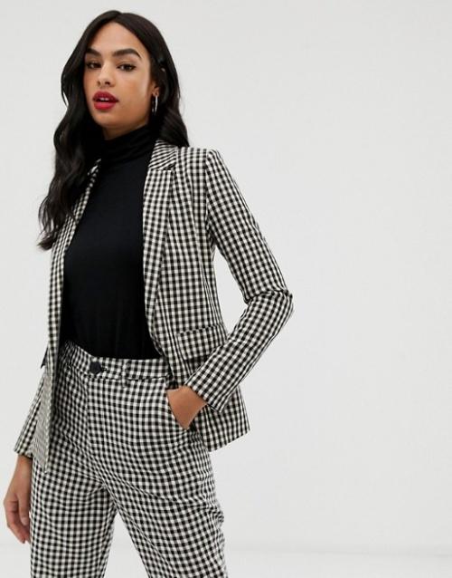 Fashion Union - Blazer à motif pied-de-poule