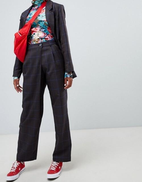 Monki - Press collection - Pantalon drapé ajusté