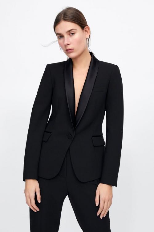 Zara - Blazer de smocking