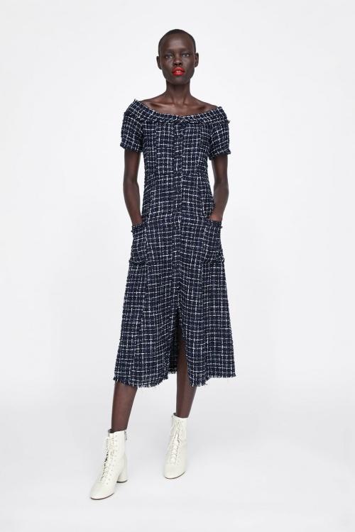Zara - Robe en tweed