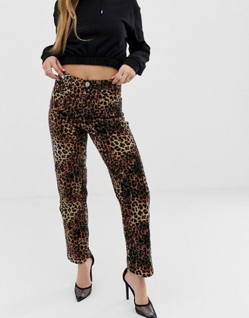 ASOS DESIGN - Pantalon imprimé léopard
