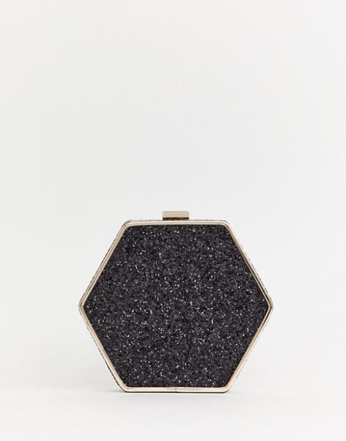 Warehouse - Sac bandoulière hexagonal pailleté