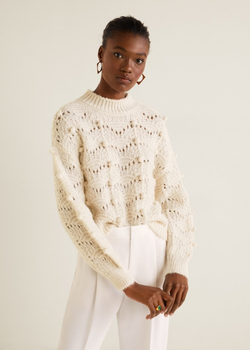 Mango- Pull maille ajourée